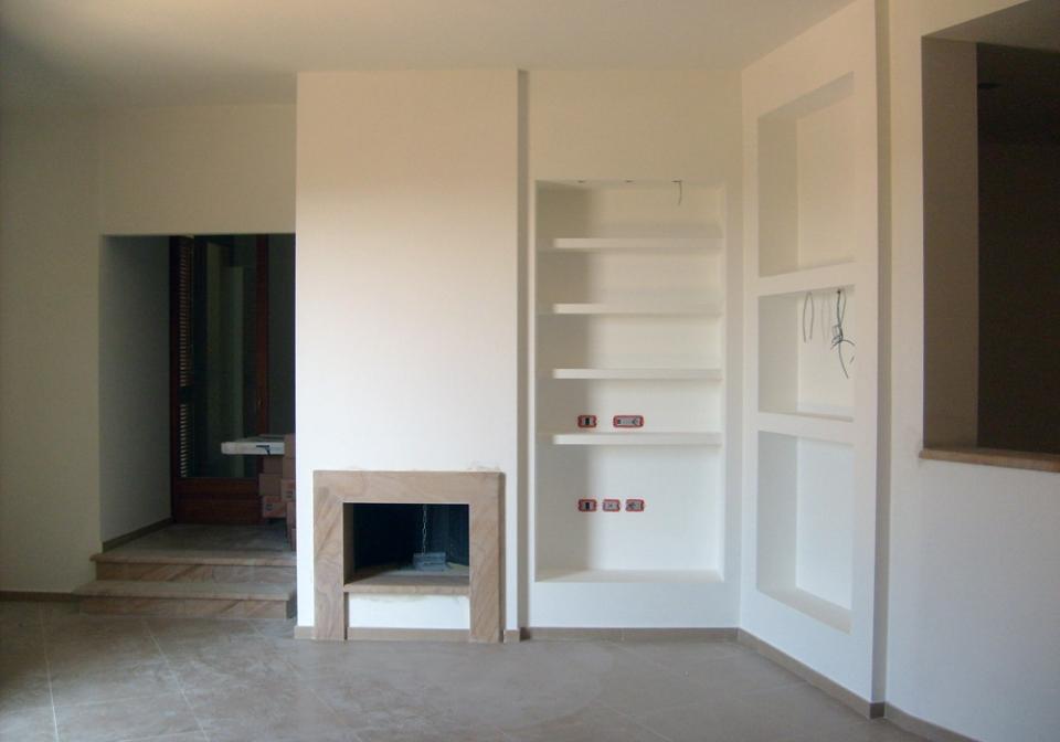 Porta tv in muratura costruisco cucina completa finta - Porta tv in cartongesso ...